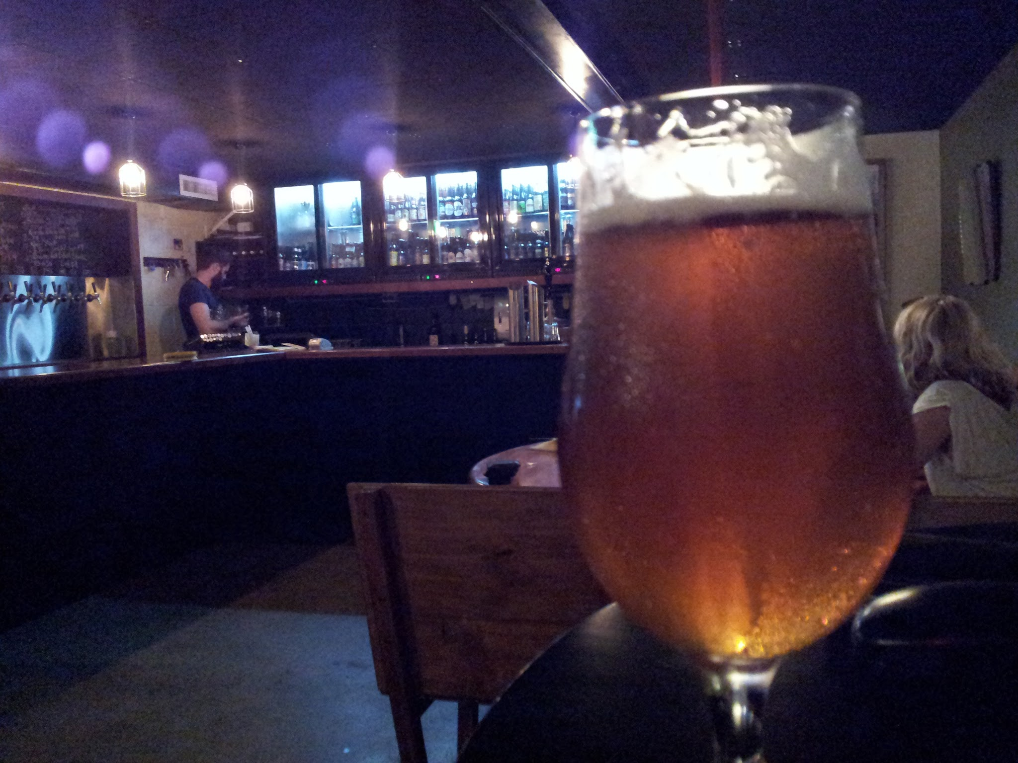 Off the tap at Tipplers Tap, Newstead